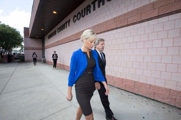 Molly Martens arrives in court for pre-trial motions (Photo: Mark Condren)