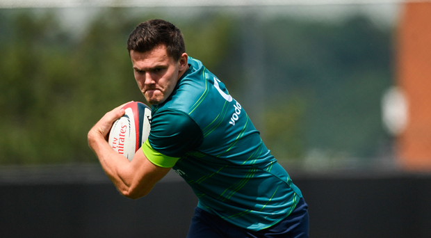 8 June 2017; Ireland's Jacob Stockdale during squad training at the Stevens Institute of Technology in Hoboken, New Jersey, USA. Photo by Ramsey Cardy/Sportsfile