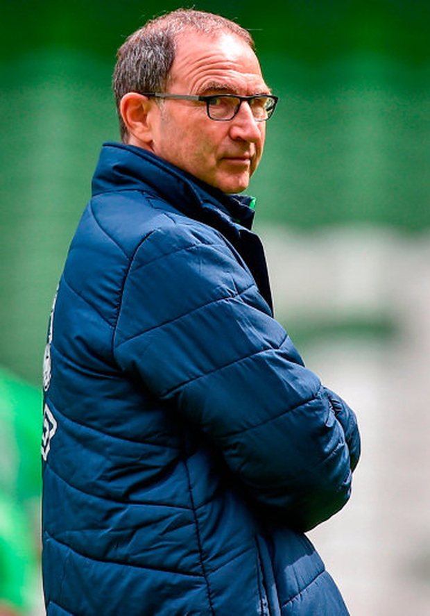 Republic of Ireland manager Martin O'Neill during squad training at the Aviva Stadium in Dublin. Photo: Sportsfile