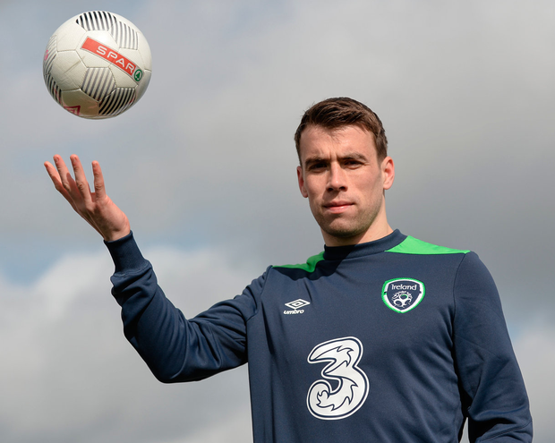 Ireland captain Séamus Coleman is still recovering. Photo: Sportsfile