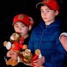 Sean (left) and Dan O'Connor, whose father John – originally from Tralee – died in the 2011 earthquake, during a the Lions visit to the Canterbury Earthquake National Memorial in Christchurch. Photo: Sportsfile