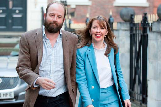 Prime Minister Theresa May's chief of staff Nick Timothy and Joint-chief of staff Fiona Hill leave Conservative Party HQ in Westminster, London, as Mrs May's future as Prime Minister and leader of the Conservatives was being openly questioned after her decision to hold a snap election disastrously backfired. Rick Findler/PA Wire