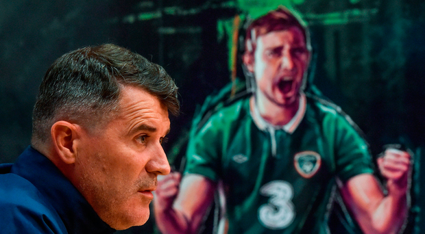 Ireland assistant manager Roy Keane speaks to the media ahead of Austria clash