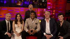 Tonight's Graham Norton Show guests. PIC: PA