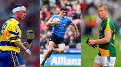Colin Lynch (left), Diarmuid Connolly (centre) and Graham Geraghty (right).