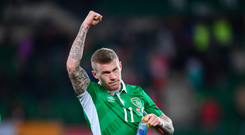 12 November 2016; James McClean of Republic of Ireland following the FIFA World Cup Group D Qualifier match between Austria and Republic of Ireland at the Ernst Happel Stadium in Vienna, Austria. Photo by Stephen McCarthy/Sportsfile