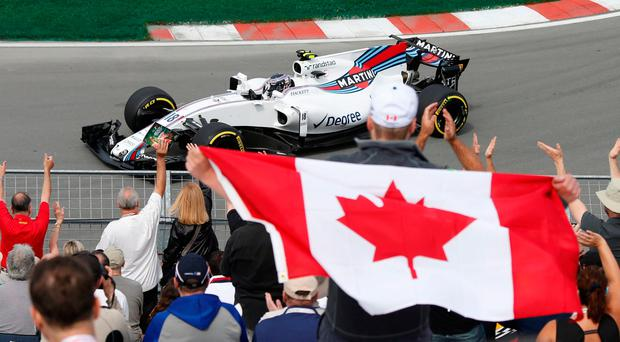 Williams' Lance Stroll in action during the first free practice session. Photo: Reuters/Chris Wattie
