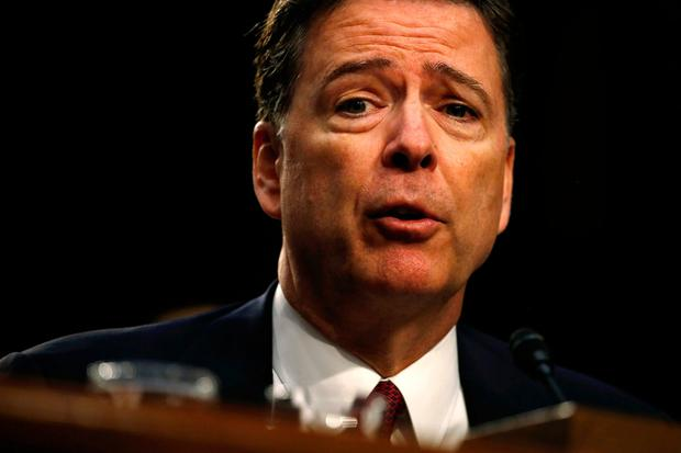 Former FBI director James Comey testifies before a hearing on Thursday. Photo: Reuters/Jonathan Ernst