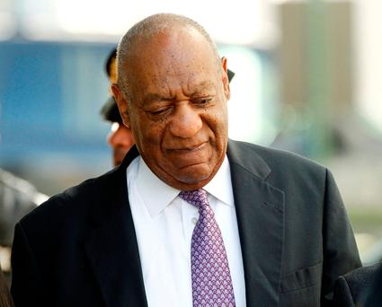 Bill Cosby arrives on the fifth day of his sexual assault trial. Photo: Reuters/Tom Mihalek