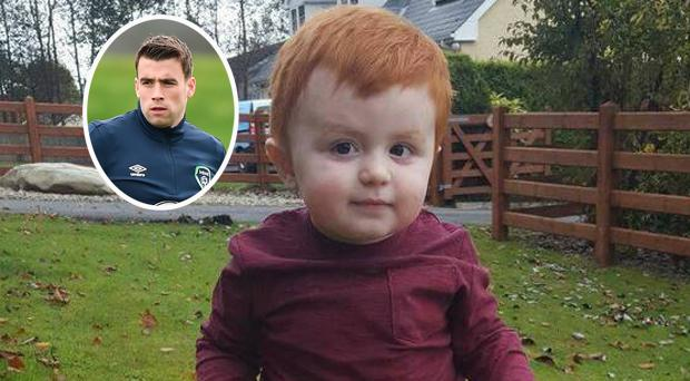 Caolan Melaugh sadly lost his fight against cancer and (inset) Seamus Coleman