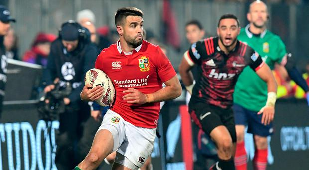 Conor Murray of the Lions against the Crusaders