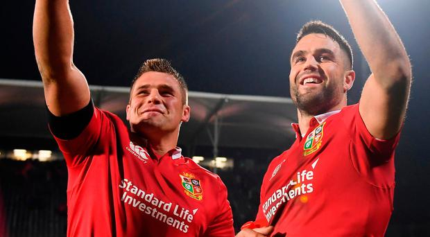 CJ Stander, left, and Conor Murray