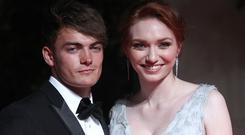 LONDON, ENGLAND - MAY 10: Eleanor Tomlinson (R) and Ben Atkinson attends the After Party dinner for the House of Fraser British Academy Television Awards at The Grosvenor House Hotel on May 10, 2015 in London, England. (Photo by Danny Martindale/WireImage)