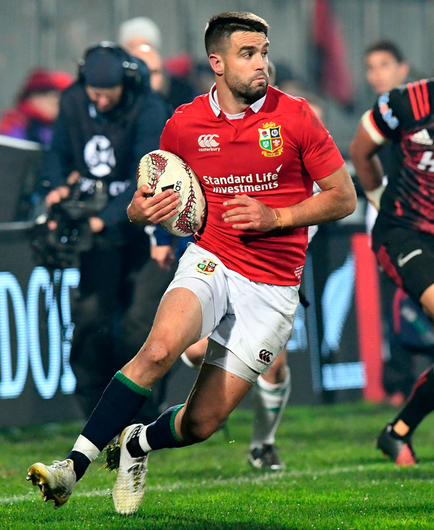 Conor Murray in action against the Crusaders. Photo: Martin England/via Reuters
