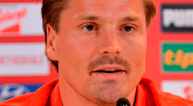 Sebastian Prodl of Austria during a press conference at the Aviva Stadium in Lansdowne Road, Dublin. Photo: Sportsfile