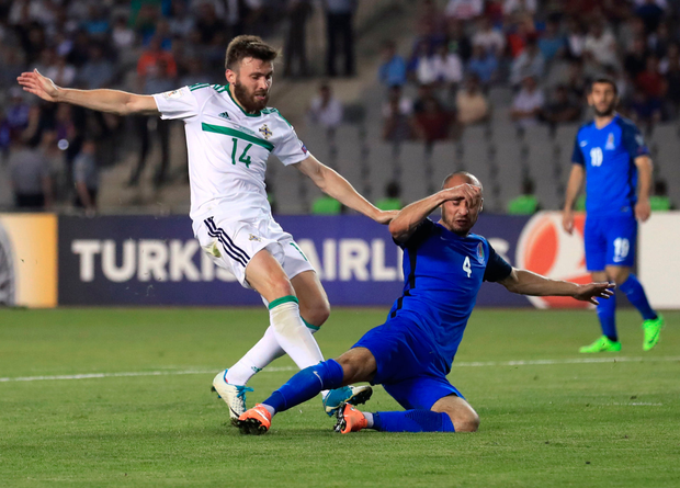 Dallas' strike was his first competitive goal for his country. Photo: Reuters