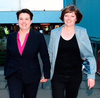 Not wedded to may: Ruth Davidson with Jen Wilson. Photo: Getty Images