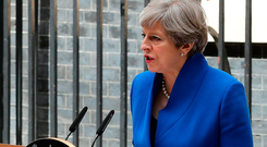 'Strong and stable': Theresa May's campaign slogan must ring hollow now following the general election results. Photo: Getty Images