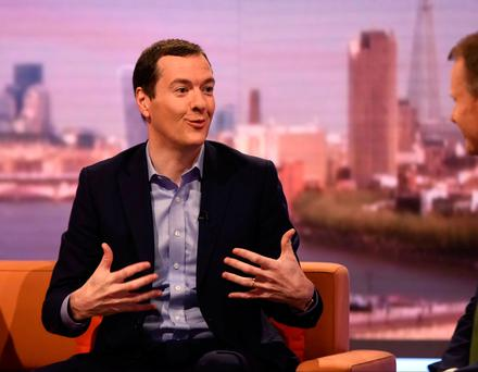 George Osborne, Editor of the Evening Standard and former Chancellor speaks on the BBC's Marr Show in London, Britain, June 11, 2017. Credit: Jeff Overs/BBC
