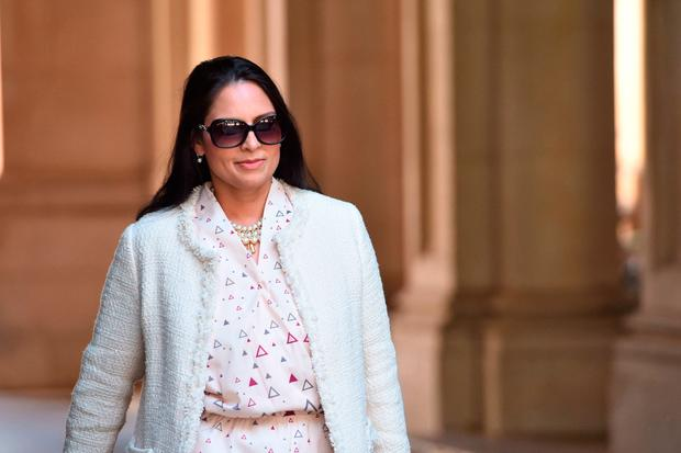 International Development Secretary Priti Patel arrives at Downing Street in London. PRESS ASSOCIATION Photo. Picture date: Sunday June 11, 2017.
