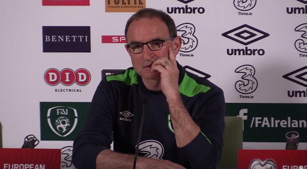 Martin O'Neill at the Ireland vs Austria post-match press conference.