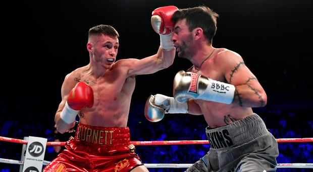 Ryan Burnett (left) dominated in his bout against Lee Haskins on Saturday night. Photo: Getty Images