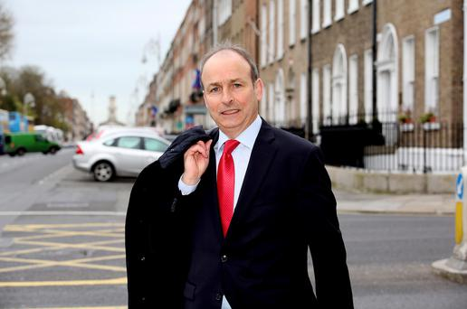 Fianna Fáil leader Micheál Martin: 'I keep my finger on the pulse and feet on the ground. That work is ongoing'. Photo: Tom Burke