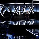Head of Microsoft Xbox Phil Spencer introduces the Xbox One X gaming console during the Xbox E3 2017 media briefing in Los Angeles. Photo: Reuters