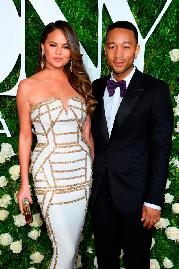 Chrissy Teigen and John Legend attend the 2017 Tony Awards at Radio City Music Hall on June 11, 2017 in New York City. (Photo by Dimitrios Kambouris/Getty Images for Tony Awards Productions)
