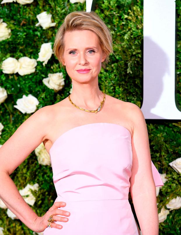 Cynthia Nixon attends the 2017 Tony Awards - Red Carpet at Radio City Music Hall on June 11, 2017 in New York City. / AFP PHOTO / ANGELA WEISSANGELA WEISS/AFP/Getty Images