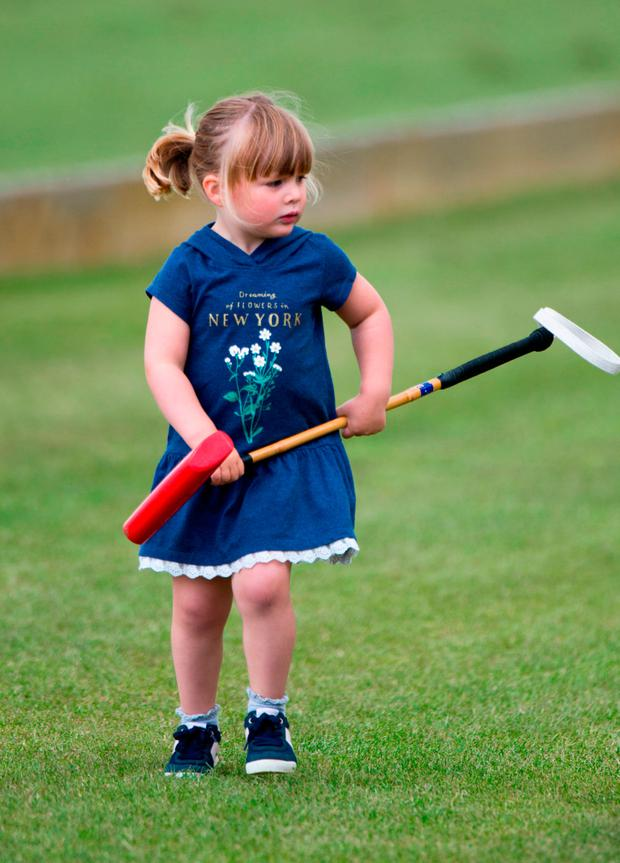 Mia Tindall at the Gloucestershire Festival of Polo at Beaufort Polo Club in Tetbury, Gloucestershire