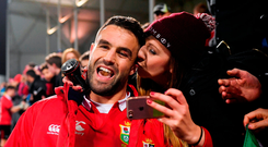 Conor Murray of the British & Irish Lions following the match against Crusaders