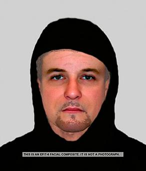 E-fit image issued by Northamptonshire Police of an e-fit of an attacker who attempted to rape a 14-year-old girl (PA)