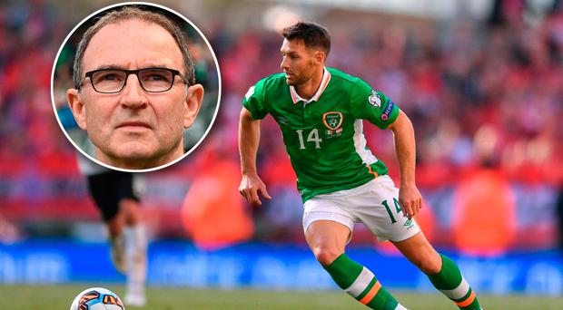 Martin O'Neill, inset, opted against starting Wes Hoolahan against Austria