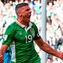 Jonathon Walters celebrates his equaliser against Austria. Photo: Sportsfile