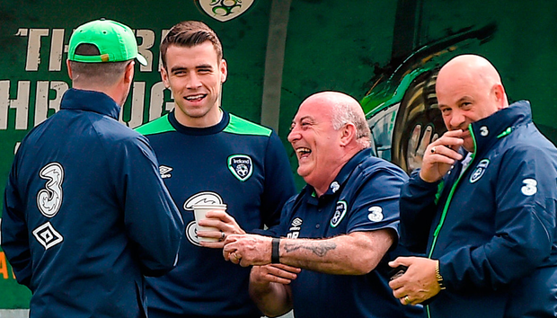 Jon Walters wants to win qualification for the World Cup for injured Ireland captain Seamus Coleman (second from left). Photo: Sportsfile