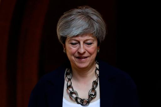 'Political zombie': Theresa May. Photo: REUTERS