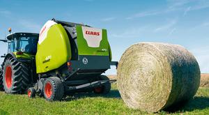 The Variant round baler from Claas can discharge a bale in less than six seconds