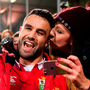 A supporter sneaks a kiss on Conor Murray of the British & Irish Lions following the match between Crusaders and the British & Irish Lions at AMI Stadium in Christchurch, New Zealand. Photo: Sportsfile