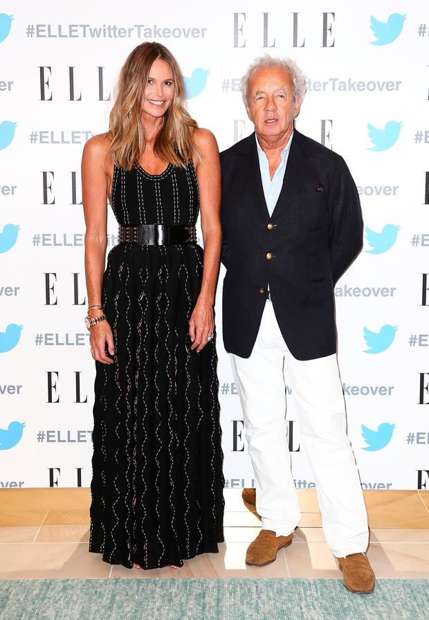 Elle Macpherson and Gilles Bennison arrive at TwitterAU HQ on September 12, 2016 in Sydney, Australia. (Photo by Mark Metcalfe/Getty Images)