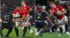 Sean O'Brien (left) and Sam Warburton (right).