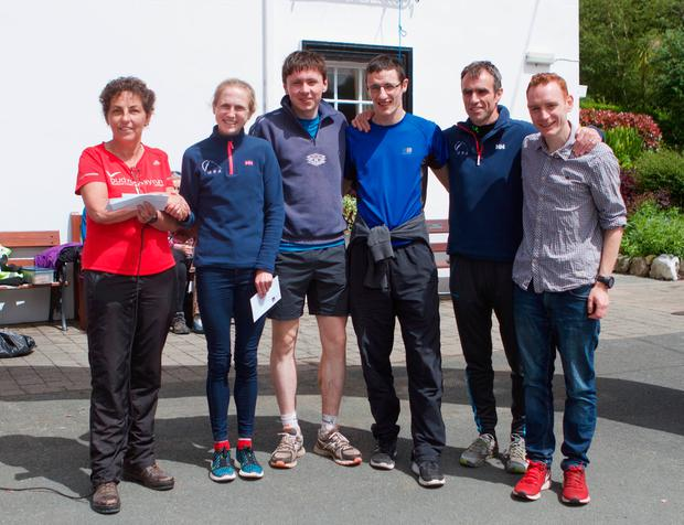 The TT Racers team that won The Relay in the Wicklow Mountains.
