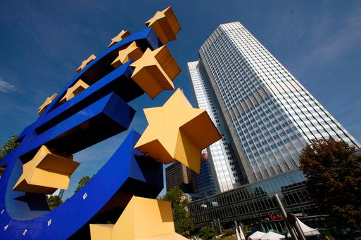 The headquarters of the European Central Bank (ECB) in Frankfurt