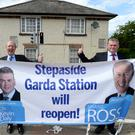 Shane Ross and Cllr for Glencullen/Sandyford Kevin Daly at the reopening of Stepaside Garda station. Photos: Justin Farrelly