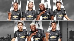 The before, above, and after images from Manchester United's Facebook page