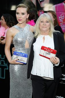 Scarlett Johansson and Geraldine Dodd attend the