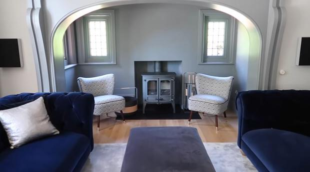 A wood-burning stove in the Alfie Deyes' new pad he shares with Zoella