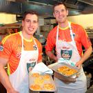 Mayo's Lee Keegan and Tipperary Seamus Callanan at The Kelloggs Gaa Cul Camps Breakfast Cook-Off at l'Ecrivain, Dublin. Photo: Brian McEvoy