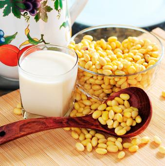 There are some exceptions – coconut milk, peanut butter, almond milk and ice cream are allowed, but soya and tofu are not exempted. Stock Image