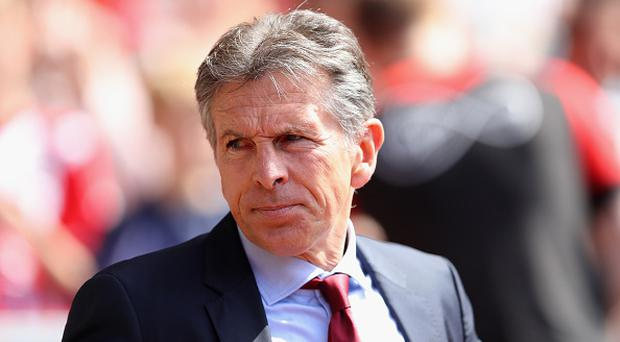 Claude Puel, Manager of Southampton looks on during the Premier League match between Southampton and Stoke City at St Mary's Stadium on May 21, 2017 in Southampton, England. (Photo by Warren Little/Getty Images)